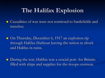 Canada War at Seas and Halifax Explosion