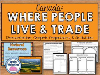 Canada: Where People Live and Trade (SS6G5)