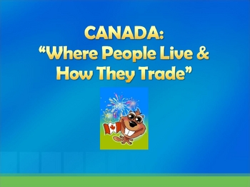 Canada - Where people live and how they trade