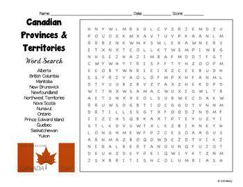 Canada Word Search