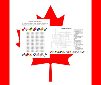 Canada Word Search & Crossword Puzzles