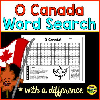 Canada Word Search - O Canada!