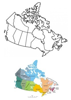 Canada Word Search and Color