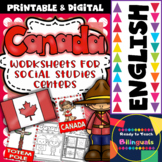 Canada - Worksheets for Social Studies Centers + Posters