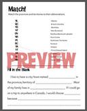 Canada Worksheets - provinces, territories, abbreviations,