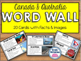 Canada and Australia Word Wall