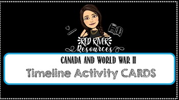Canada and World War 2 Timeline Cards