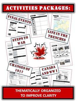 Canada and World War One (Complete Unit) - 230+ Pages/Slides!