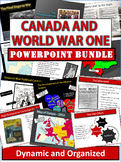 Canada and World War One Powerpoint Bundle - 7 Files/80+ Slides