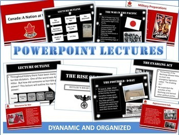 Canada and World War Two (Complete Unit): 110+ Pages/Slides of Resources