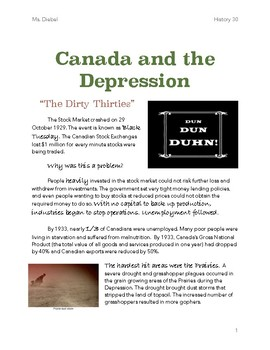 Canada and the Great Depression