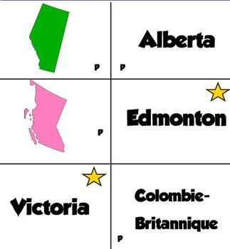 Canada capitales provinces