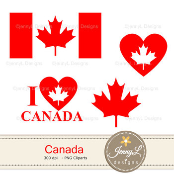 Canada digital paper and clipart