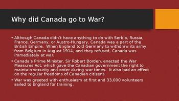 Canada in WW1 Powerpoint