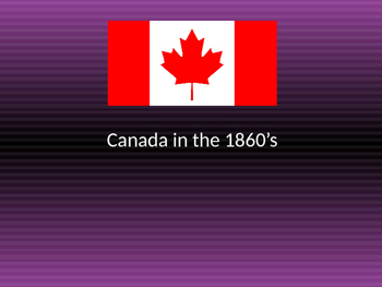 Canada in the 1860s