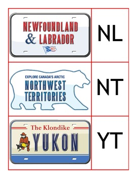 Canada or Bust! Capitals, Abbreviations, and License Plate Match Up