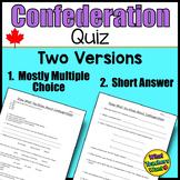 Canada's Confederation Quiz
