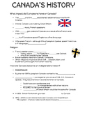 Canada's History Guided Notes