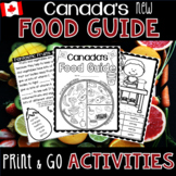 Canada's New Food Guide - Print and Go Activities