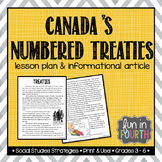 Canada's Numbered Treaties Lesson Plan and Informational Article