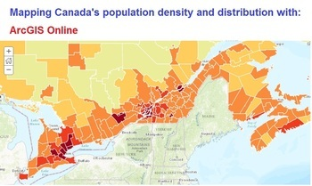 Canada's Population Distribution and Density    ArcGIS onl