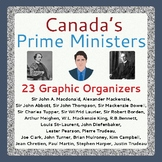 Canada's Government PRIME MINISTERS 23 Graphic Organizers PRINT & TPT DIGITAL