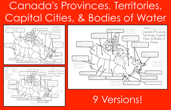 Map Of Canada Capital Cities.Mapping Canada S Provinces Territories Capital Cities Bodies Of Water