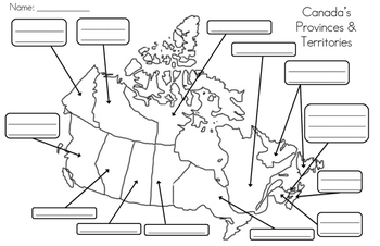 Map Of Canada To Label Provinces And Capitals Mapping Canada's Provinces, Territories, Capital Cities, & Bodies
