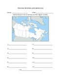 Canada's Provinces/ Territories and Capitals Quiz (Ontario