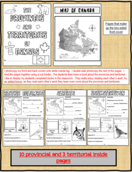 Canada's Provinces and Territories Research Booklet
