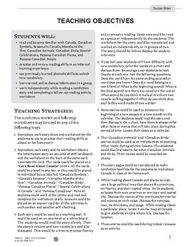 Canada's Wonderland Reading Lesson Gr. 1-2