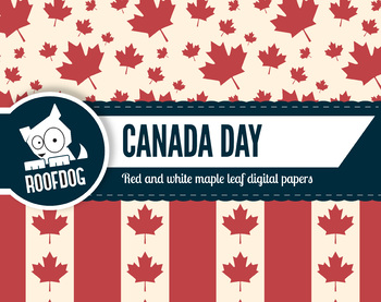 Canada themed digital papers — Canada day — Canadian themed — flag