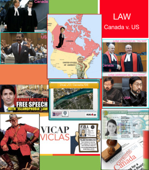 Canada v America Law ~ Lawyer ~ FREE POSTER