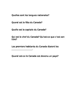 Canada - what do you know already? (French)
