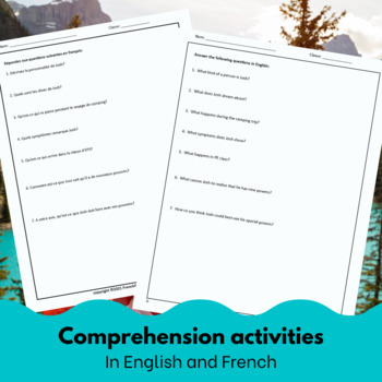 Canadaman - Reading and activities for beginning/intermediate French