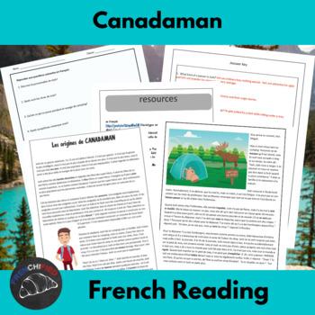 Canadaman - Reading and activities for beginning/intermedi