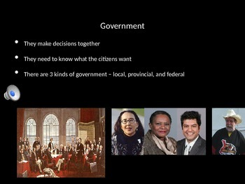Canada's Federal Government Powerpoint- videoclips, audio, simplified