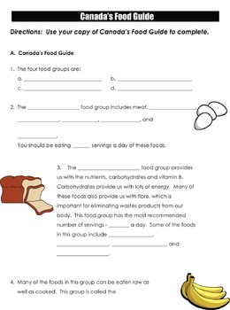 Canada's Food Guide Assignment