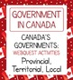 Canadian Government Bundle #2 of 3 Resources