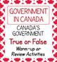 Canadian Government Civics High School Bundle
