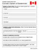 Canadian Government the Federal System 15 Graphic Organizers