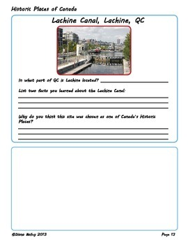 Canadian History and Geography 17 Graphic Organizers, 5 Activities: Set 1