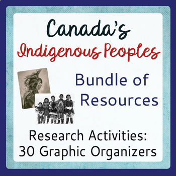 Canada's Native Peoples Graphic Organizers Activities Bundle Traditional Ways