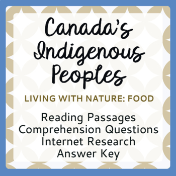 Canada's Native Peoples Living with Nature: Food