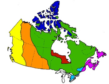 Canada's Physical Regions (maps)