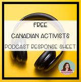 Canadian Activist Response Sheet - Distance Learning Filla