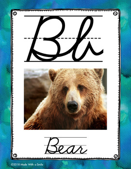 Canadian Alphabet Posters (With Images) Cursive