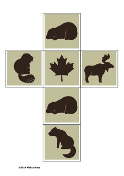 Canadian Animal Dice and Poster Set