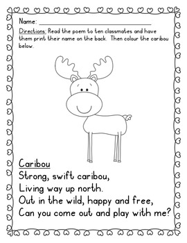 Canadian Animal Poetry {Canadian Animal Poems for Fluency, Expression and Fun!}