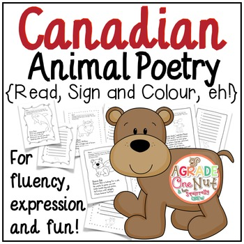 Canadian Animal Poetry {Canadian Animal Poems for Fluency,